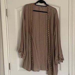 Jodifl tan cardigan/kimono (large - tunic length)